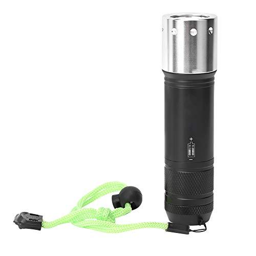 MOH Linterna T6 Aleación de Aluminio Linterna de Buceo Deportes subacuáticos al Aire Libre Antorcha de luz Fuerte