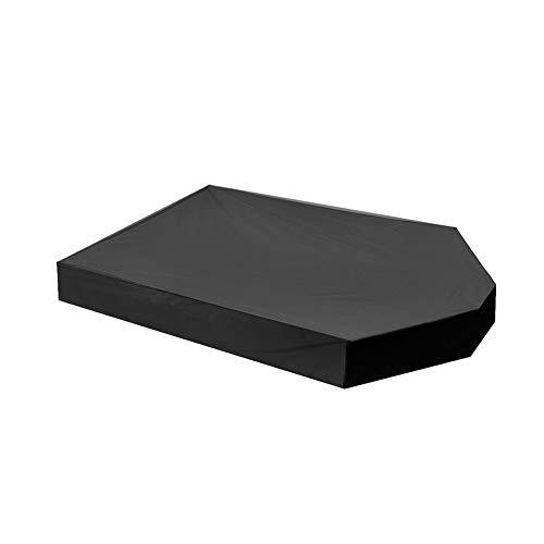 Urstory1 Cubierta para caja de arena con cordón como cubierta de alberca de arenero impermeable, cubierta para arenero, cubierta de arena pequeña, 160 x 113 x 22 cm