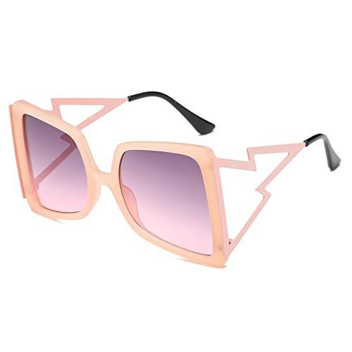 YU-HELLO _Gafas de sol de gran tamaño cuadradas UV400 con montura grande