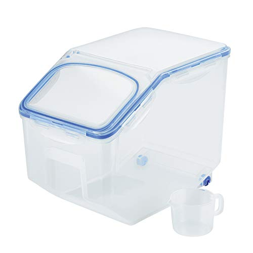 LOCK & LOCK Bulk Storage Bins Food Storage Container with Wheels 405.77-oz / 50.72-cup