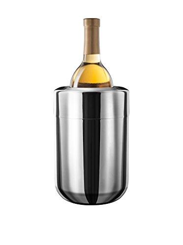 Final Touch Stainless Steel Wine Chiller With Removable Gel Freezer Packs Edelstahl-Wein-Kühler mit herausnehmbaren Gel Kühlakkus