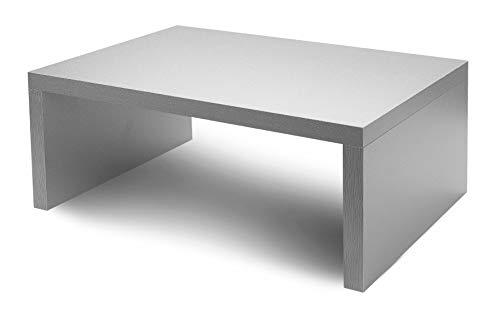 PRACUJ ZDRAVE A4 + Monitorständer Laptopständer Bildschirmständer 36 x 25 x (5/10 / 15/20) cm (Silber, 15)