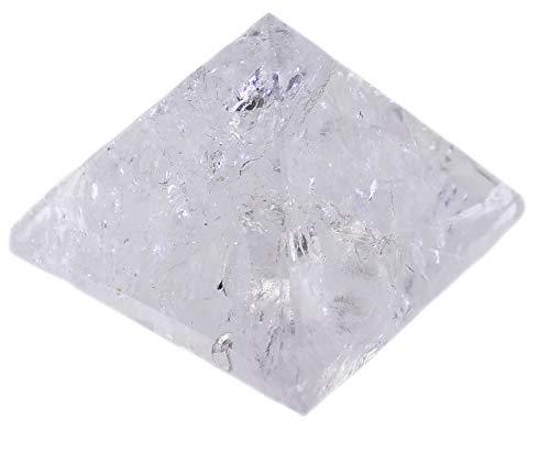 budawi-Deko & Schönes Bergkristall Pyramide 56 x 56 mm Bergkristallpyramide, Pyramide aus Bergkristall