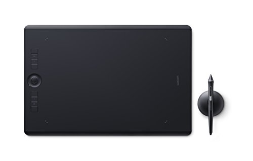 Wacom Intuos Pro L es una tableta gráfica perfecta para dibujar, pintar y hacer bosquejos gracias a su área activa de 311 x 216 mm y al lápiz Pro Pen 2 preciso y ligero con 8192 niveles de presión Cuenta con una función multitáctil para que se pueda ...