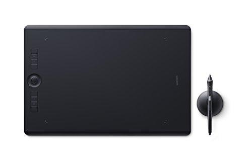 Wacom Intuos Pro Large Tavoletta Grafica con penna sensibile alla pressione / Tasti di comando personalizzabili / kit wireless incluso / Per Mac e PC Windows / Nero
