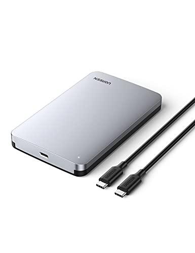 """UGREEN Case Esterno Disco Rigido 2.5"""" USB-C 3.1 Gen 2 con USPA Fino a 6Gbps, Custodia Esterna HDD SSD Thundebolt 3 Compatibile with SATA da 7mm 9.5mm Samsung WD Toshiba Seagate Hitachi, PS4, Xbox"""