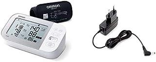Omron Tensiómetro X7 Smart, Monitor para la presión arterial con detector de AFib y Bluetooth, para el hogar + Adaptador de corriente AC para tensiómetro M2, M3, M6, M7 y inhalador C803