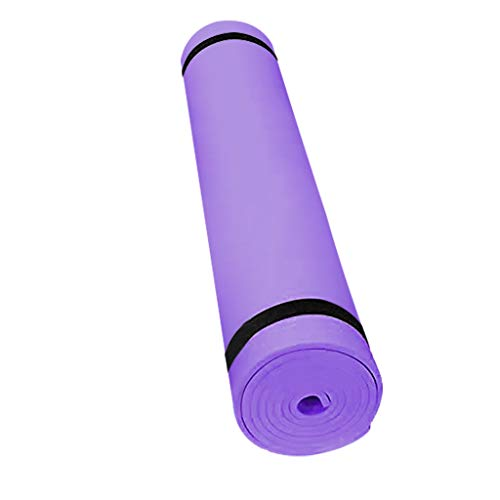 Funic Durable Portable Solid Non-Slip Soft Fitness Yoga Mat Mats (Purple)