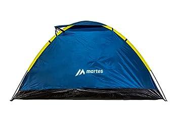 martes TENTINO II Tente dôme de Camping pour 2 Personnes avec Ventilation, légère, imperméable ? Installation Facile pour Trekking, familles, Festivals, Sac à Dos, Poséidon/sulfuré, Taille Unique