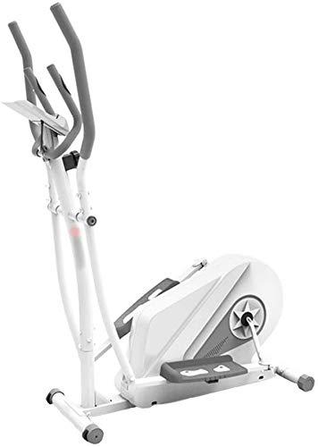 Wghz Máquina elíptica, con 8 Niveles de Resistencia y Sensor de frecuencia cardíaca Máquina de Cardio Fitness, máquina de Adelgazamiento, Carga máxima 130 kg, para Hombres y Mujeres