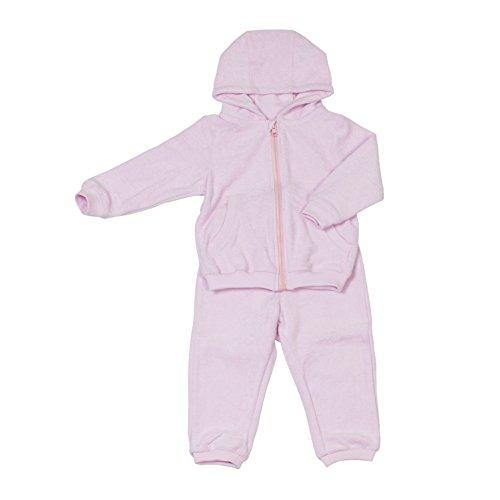 Kinder- und Baby-Sweatsuit Mädchen & Jungen | 100% GOTS-zertifizierte Bio-Baumwolle | kuschelweich für empfindliche Baby-Haut | Fair-Trade: Qualitäts-Produktion in der EU | Rosa, Größe: 104