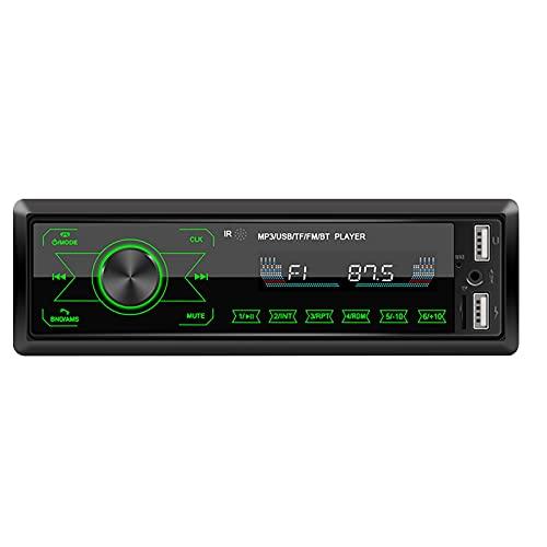 Bluetooth PANTALÓN MULTIMEDIA DE COCHES BLUETOOTH STEREO AUTO RADIO TOUCH PANTALLA MP3 Reproductor de música con luz colorida para el receptor de entrada de automóviles. multimedia ( Color : Black )