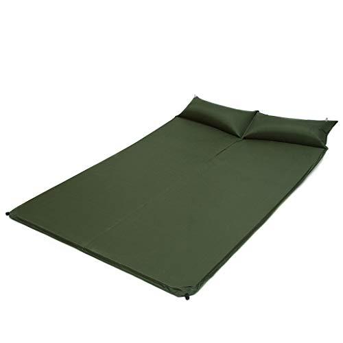 WANG LIQING Coussin de Couchage avec Oreiller Ultraléger Camping Tente Tapis de Couchage Compagnon Sac de Couchage Anti humidité Coussin Gonflable Automatique Double Air, Vert (2)