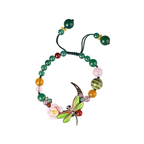 Pulsera para mujer con forma de flor de libélula
