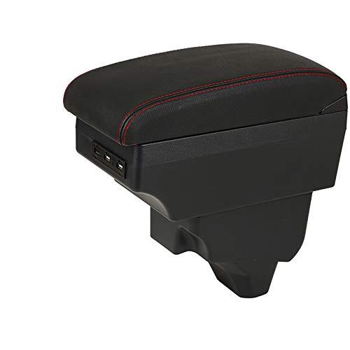 Ztuaalui para Peugeot 208 Coche, para Peugeot 2008 apoyabrazos Caja 2019 2020 2021 Accesorios de modificación Caja de Almacenamiento Interior Accesorios USB