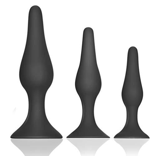 Utimi 3 Stück Silikon Analplugs Buttplug für Maturbation