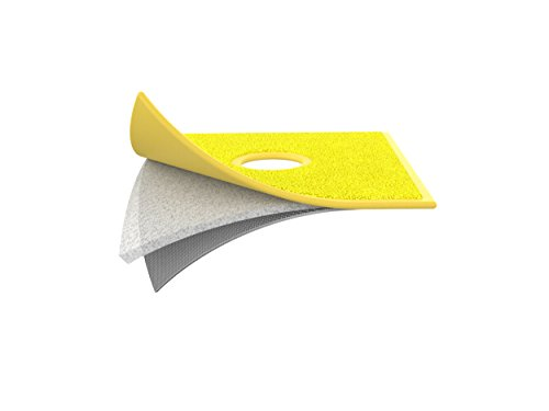 Unger 98801Z FensterProfi Mikrofaser Pad, Gelb, 217 x 217 mm