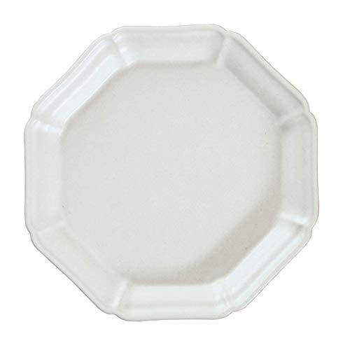 TJLSS Las Placas Perdurable Porcelana Cena, Blanco Natural de vajilla Dishfor Cena y Ensalada, Restaurante, Fiesta de la Familia y la Cocina Uso - Ronda (Color : White)