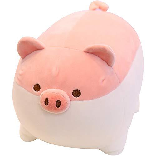 N/AA Amuse-MIUMIU 1 Stück Süßes Schweinchen Plüschtier 40 cm,Plüsch Spielzeug Süßes Stofftier aus weichem Kuscheln und Spielen,Kuscheltier Plüsch Tiere Kuscheltier, Kawaii Kissen Plüschtier (Rosa)