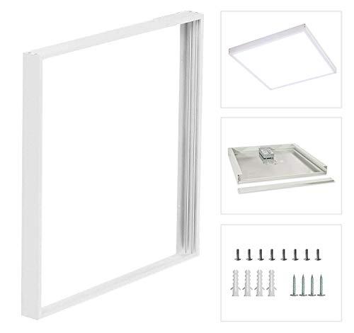 10 Pack Surface Mount kit for 2x2ft LED Flat Panel Light - 2'x2' Flush Mounting Ceiling Frame Kit, Screws Included