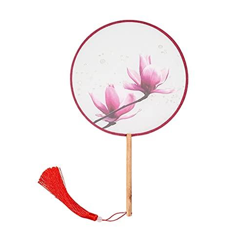 XXSW Folding Fan Ventilador de Grupo de Estilo Antiguo con borlas, fanátrano de Mano clásico Femenino para Regalos de cumpleaños, rodaje de Cine y televisión, Uso Personal Hand Fan (Color : C)
