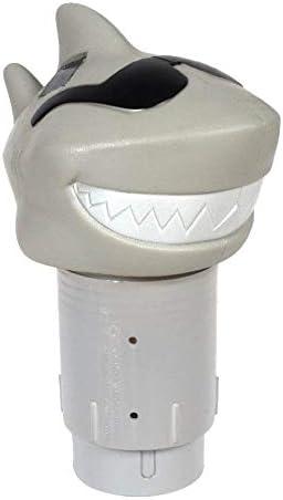 GAME 12902 BB Solar Light Up Shark Pool 3 inch Tablet Chlorine Dispenser LED Light Sensor Expandable product image