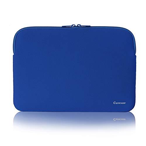 Carecase - Funda de Neopreno para portátil de 10 a 12 Pulgadas, Resistente al Agua, para Ordenador portátil, Tableta, maletín de Transporte, Funda para MacBook, Acer, ASUS, DELL, Lenovo, Color Azul
