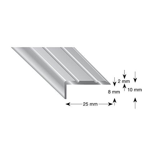 Kogele 105B SD 100S traphoek aluminium zand geanodiseerd, zelfklevend, 25/10/1000 mm