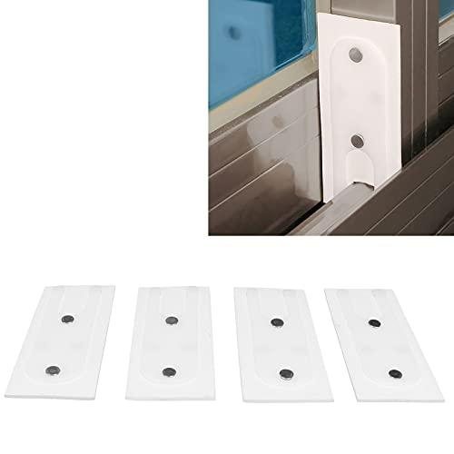 SALALIS Bloque de Viento para Ventana, 4 Piezas Almohadilla de Aislamiento acústico Pom + TPE Durable Resistente para aleación de Aluminio Ventana para Ventana de plástico y Acero