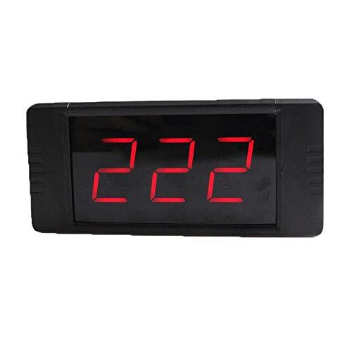WyaengHai Countdown-Uhr Intervall-Training Timer Stoppuhr Countdown-Uhr Echtzeituhr Mit Fernbedienung Geeignet für Fitness-Studio Fitness (Farbe : Schwarz, Größe : 11.7X5.5X2CM)