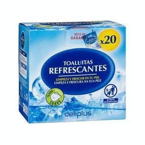 Toallitas refrescantes monodosis Caja 20 sobres