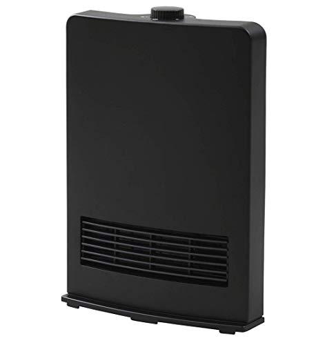 [山善] セラミックファンヒーター (セラミックヒーター) 暖房器具 1200W / 600W 2段階切替 DF-J121(B) [メーカー保証1年]
