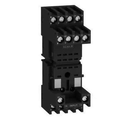 Schneider RXZE2M114M Sockel für Rxm+Rexl, 2 oder 4 polig, gemischte Kontakte, Kastenklemmen