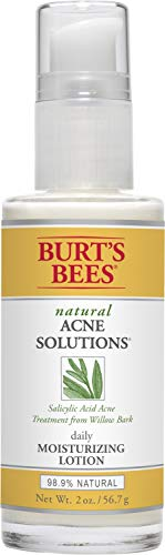 Burts Bees Natural Acne Solutions Daily Moisturizing Lotion, Face Moisturizer for Oily Skin, 2 Oz (Package May Vary)