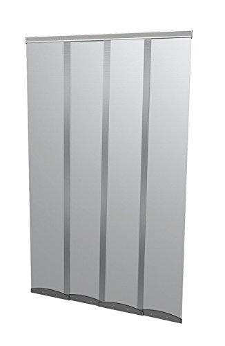 Windhager Insektenschutz PLUS COMFORTTürvorhang Lamellenvorhang Fliegengitter, individuell kürzbar, 120 x 250 cm, anthrazit, 04341