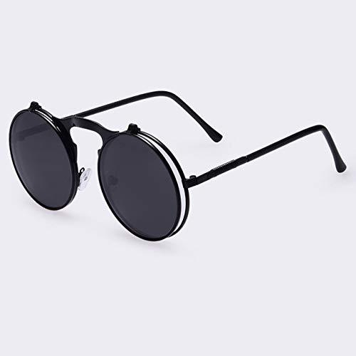 Gjhnyd Sunglasses Round Designer Steam Punk Metal Women Coating Sunglasses Men Retro Circle Sun Glasses Glasses Barware Sunglass Hut Glasses