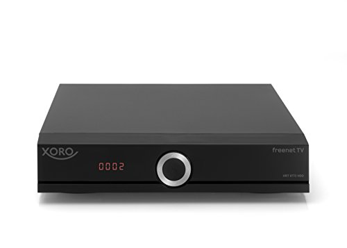 Xoro HRT 8772 HDD Full-HD DVB-T2 Receiver (HEVC H.265 Twin Tuner, Irdeto Cloaked CA für freenet TV, ohne SATA Festplatte im FP-Schacht, HDMI, USB PVR Ready,  S/PDIF Opt., MiniSCART, 12V) schwarz