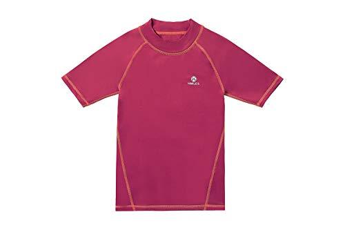 Rash Guards Surf Shirt LSF 50+ UV-Schutz Schwimm-T-Shirt für Mädchen 5/6-13 Jahre Gr. 11-12 Jahre, Ss-rosa