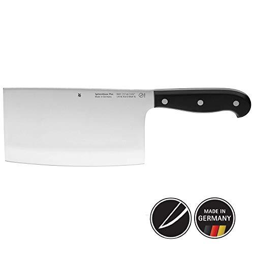 WMF Spitzenklasse Plus Chinesisches Hackmesser 30 cm, Messer geschmiedet, Performance Cut, Kunststoff-Griff vernietet, Klinge 17 cm