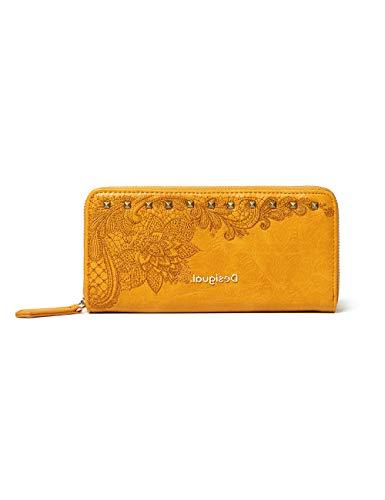 Desigual Accessories PU Long Wallet, Largo Walet. para Mujer, Amarillo, U