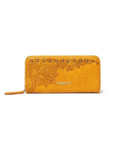 Desigual Accessories PU Long Wallet, Largo Walet. para Mujer, Amarillo, U