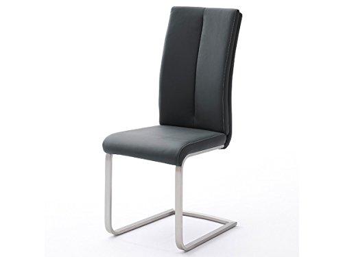 möbelando Schwingstuhl Freischwinger Küchenstuhl Stuhl Stühle Miafle III (4er Set) (Schwarz)