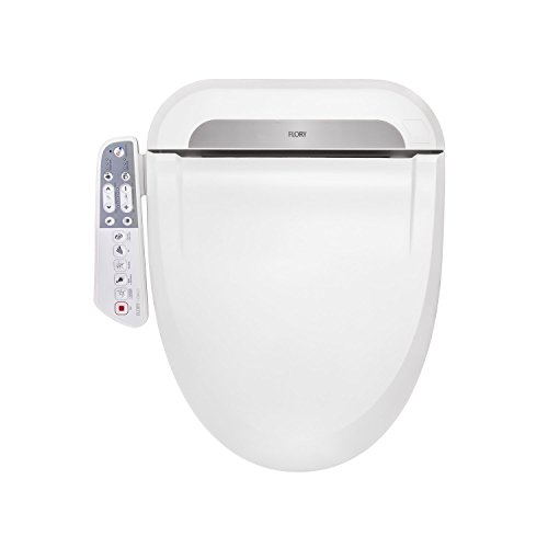 R FLORY Bidet Electric Digital Intelligent Toilet Seat FDB600 Energy-Saving Technology,Eco-Friendly,Water & Seat Heater,Warm Air Dry-Normal
