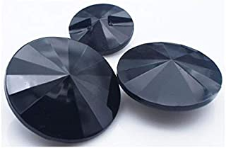Xucus DIY Apparel Sewing Button Black Acrylic Crystal Round Hole Thread Suits Coat Jackets Buttons 100pc/lot - (Color: Bla...