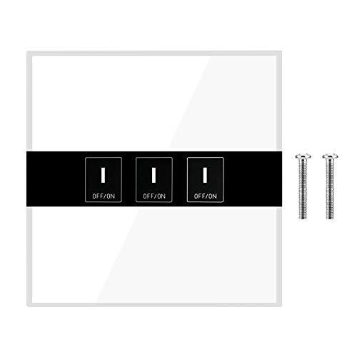 Cosiki Interruptor de luz, Interruptor de luz de Pared Inteligente a Prueba de Fuego humanizado, Bombas de sumidero de Timbre de ABS ignífugas Atractivas y Elegantes Sistema de(3 Way)