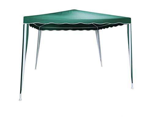 Vetrineinrete Gazebo 3x3 metri impermeabile idrorepellente da giardino terrazzo tendone in poliestere ombrellone (Verde)