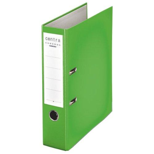 Centra 230146 Standard-Ordner (grauappe RC, mit PP-Folie kaschiert, A4, 8 cm Rückenbreite, Chromos) apfelgrün
