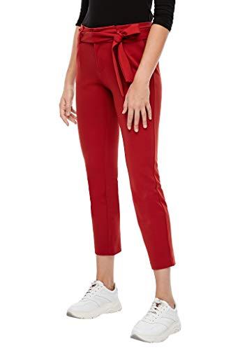 s.Oliver Damen Regular Fit: Paperbag-Hose red 40