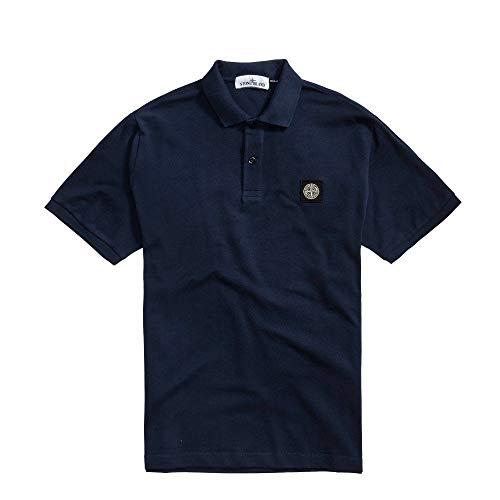 Stone Island Poloshirt, Baumwolle, Marineblau -  Blau -  X-Groß
