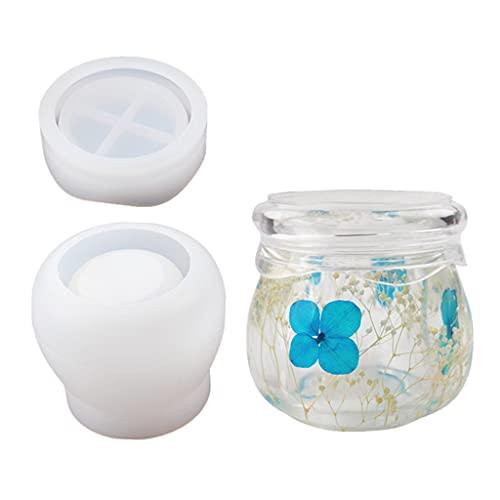 OSELLINE Molde de resina, caja de almacenamiento, molde de joyería para anillos, adecuado para jabón, candelero, caja de joyería, maceta, manualidades, decoración del hogar